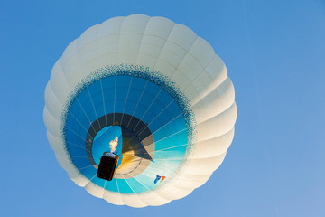 Minsk, Belarus. 12-September-2014: view of hot air baloon flying