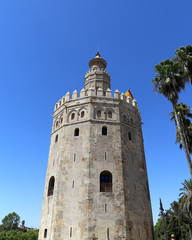 Torre del Oro or Golden Tower Seville, Andalusia, Spain