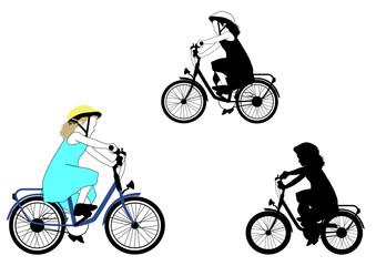 cycling - girl on a bike