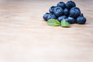 blueberry on wood