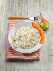 risotto with pears