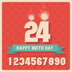 happy birthday illustration vector 21