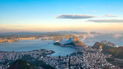 Rio de Janeiro, view from Corcovado to Sugarloaf Mountain