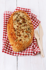 Sourdough bread with seeds and grains