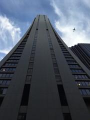 Chicago grattacielo aereo in volo