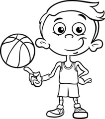 boy basketball player coloring page