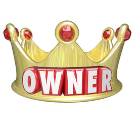 Owner Word 3d Gold Crown Home Property Control