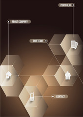 The abstraction cubic informative background for companies