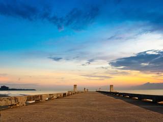 Jetty beach on twilight time