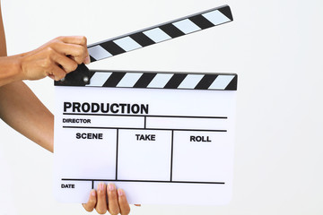 Blank movie clapper board
