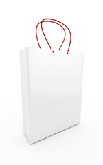 3d Shopping Bag (Left Perspective View) - isolated