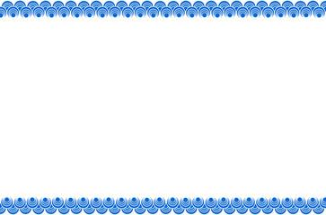 Framework of blue pattern in Japanese art.