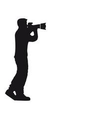 Fotograf Mann große Kamera