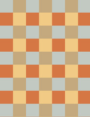 Seamless classic brown checkered  pattern