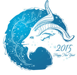 Happy new year 2015! Year of goat.