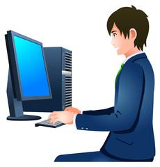 パソコンをするビジネスマン