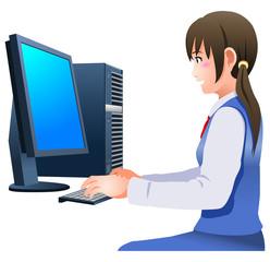 パソコンをするビジネスウーマン
