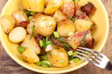 close up potatoes salads
