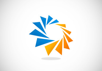 circular geometry spark 2D logo