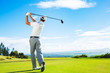 Leinwanddruck Bild - Man Playing Golf