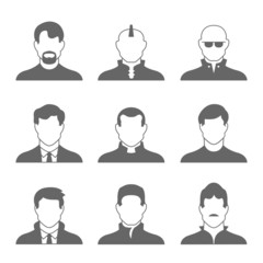 Male Profile Icons