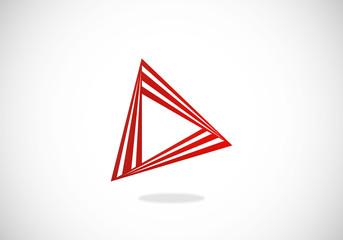 video play abstract construction vector logo