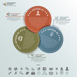 Round Cards Infographic Elements, 3 Options