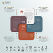 Square Cards Infographic Elements