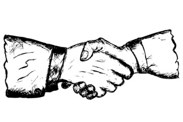 Two hand shaking