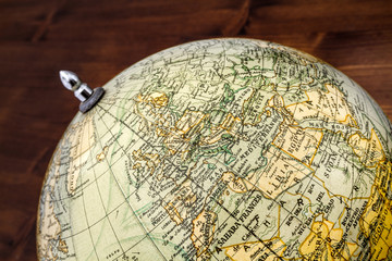 Old world globe: Europe and North Africa