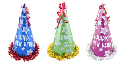 Set of Happy New Years party hats