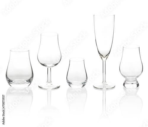 transparent cocktail glasses