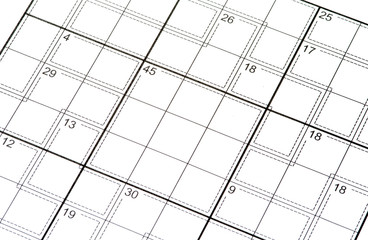 crossword puzzle with Numbers