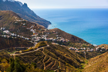 Village Taganana in Tenerife island - Canary
