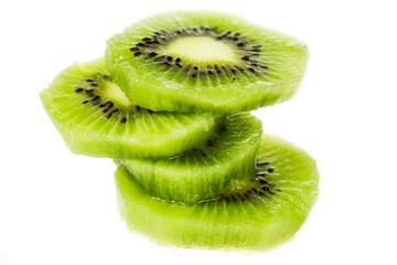 Slices of fresh kiwi