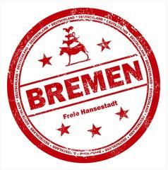 Bremen Deutschland Stempel Stamp rot Stadtmusikanten