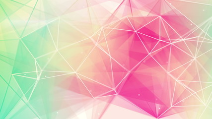 light green pink triangles background loop