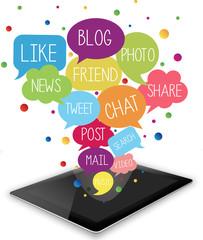 Tablet, App, Social Media