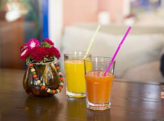 glass of multivitamin juice