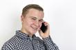 boy on mobile phone