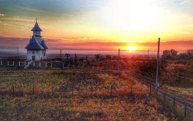 Sunrise in the countryside of Romania, Iasi area