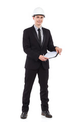 Engineer with clipboard