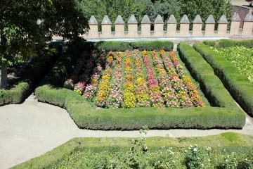 Blumenbeet in der Alhambra