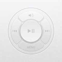 Vector interface design elements for music player icons
