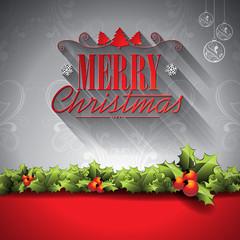 Vector Holiday illustration on a Christmas theme