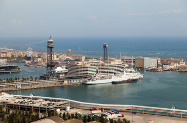 Barcelona harbor, Spain.
