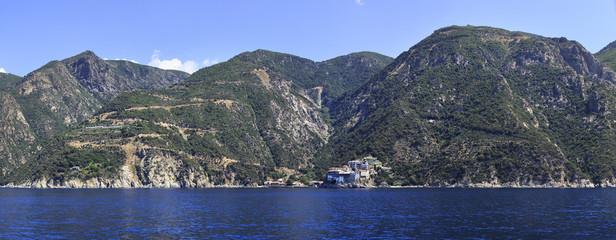 Osiou Grigoriou (Gregory's) monastery. Holy Mount Athos.