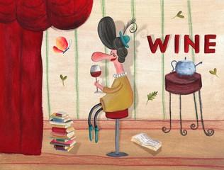 Wine bar poster