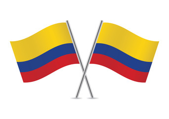 Colombian flags. Vector illustration.