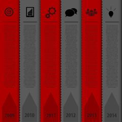 Design bookmark template. Infographics timeline. Vector